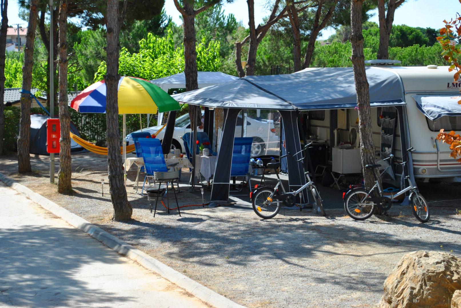 Parcelas para caravana camping Costa Brava